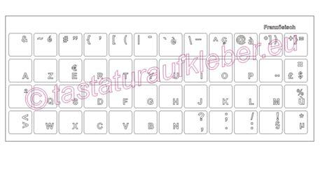 Tastatur Aufkleber Transparent by Tastaturaufkleber Franz 214 Sisch Weisse Schrift