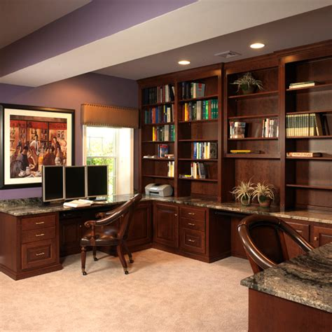 Basement Office Design Ideas Finished Basement Bar And Home Office Traditional Home Office Philadelphia By Carole