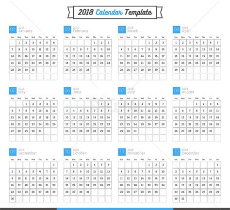 calendar template ai 2018 calendar vector easy to edit cdr ai files cdrai