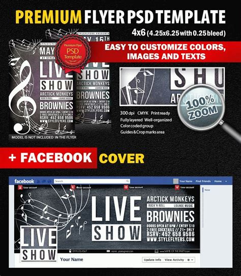 Live Show Psd Flyer Template 7611 Styleflyers Live Poster Template