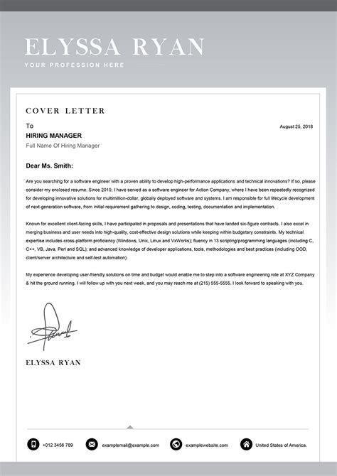 functional cover letter template cover letter templates