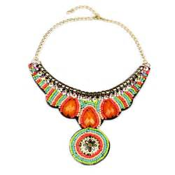 Handmade Collar Necklace - fashion boho style colorful acrylic handmade collar