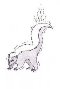 skunk colors free printable skunk coloring pages for
