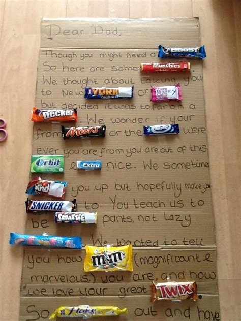 Letter Using Chocolate Bars S Day Bar Letter Holidays S Day S Day Bars