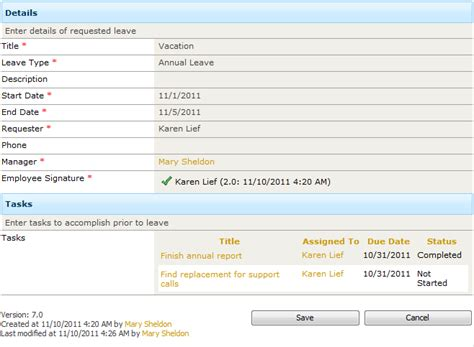 Leave Request System Free Sharepoint Business Solution Infowise Sharepoint Task Tracking Template