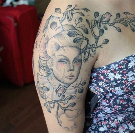 geisha girl tattoo sleeve 65 graceful geisha tattoos on shoulder