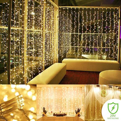 string lights curtain string light curtain panel bedroom indoor outdoor mini lights