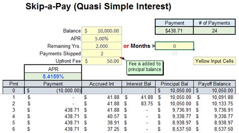 student loan repayment excel template fresh simple interest