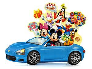 disney pop up blue car with lights blinks to happy birthday melody greeting card