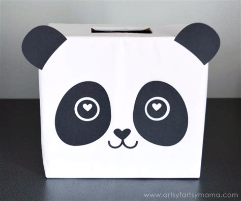 valentines day panda panda card box at artsyfartsymama ideas