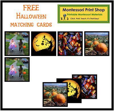 montessori printable shop free halloween photo matching cards from montessori print
