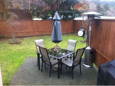 Small Patio Set With Umbrella Small Patio Table With 4 Chairs Umbrella And Stand