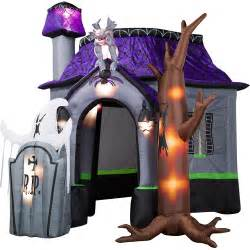 Gemmy Light Show Airblown Halloween Inflatable Haunted House With Dead Tree