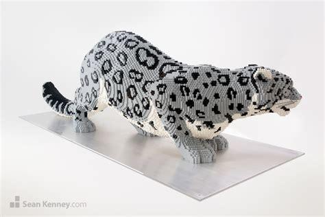 Sale Lego A Brick Animal Cat kenney with lego bricks snow leopard