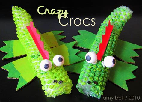 kid crafts wrap crocodile craft positively splendid