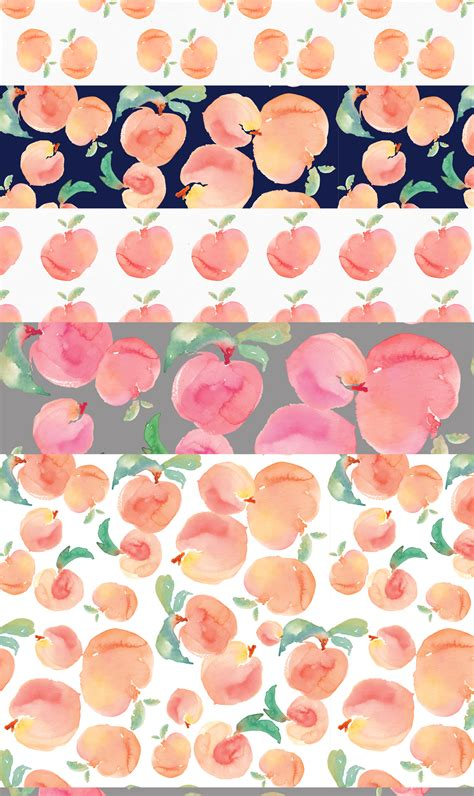watercolor pattern free watercolor peaches clip art patterns