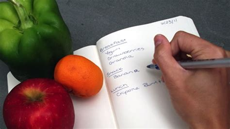 Lose Belly With A Food Journal by Keep A Daily Food Diary To Track Your Diet Lose Weight
