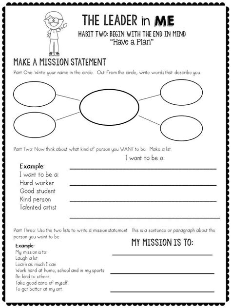 Leader In Me Worksheets by 25 Best Ideas About 7 Habits Activities On