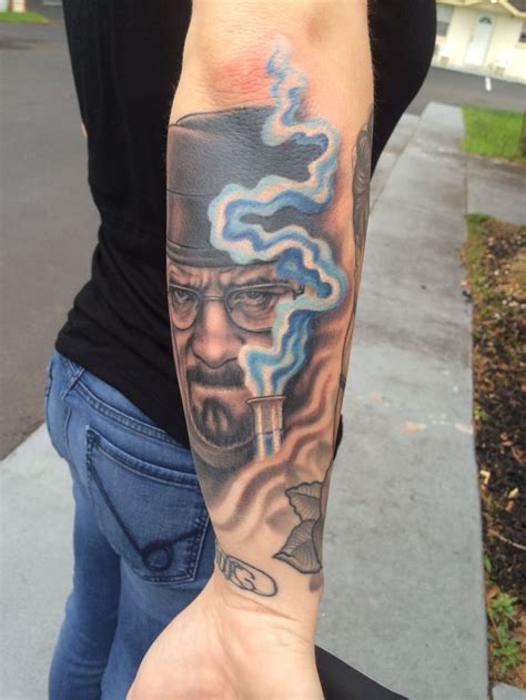 walter white tattoo heisenberg walter white breaking bad blue