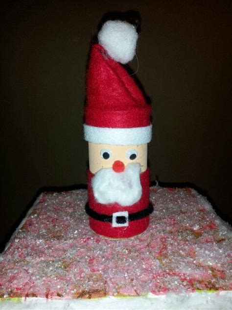 santa toilet paper roll craft santa claus crafts with toilet paper rolls
