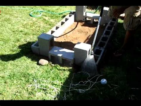 Backyard Bbq Pit Vs Food Diy Backyard Bbq Brick Pit Stage 1