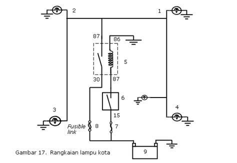 wiring diagram rangkaian lu kepala choice image