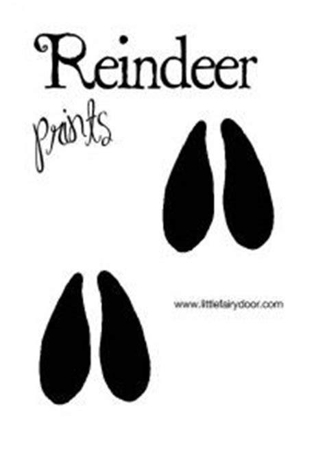 printable elf footprints little fairy door templates reindeer footprints aussie