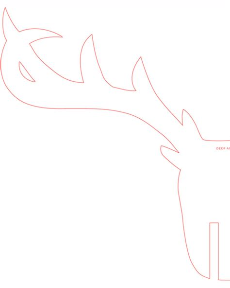 deer template dusty coyote a reindeer