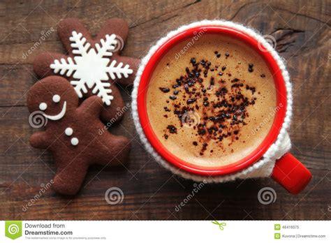 christmas morning coffee  cookies stock image image  caffeine concept
