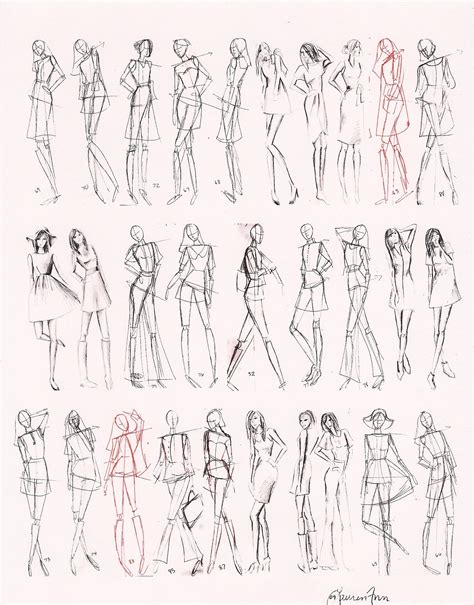 Drawing Figures by 1000 Images About Fashion Design On Croquis