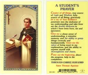 Student s prayer st thomas aquinas holy card 800 290 e24 766