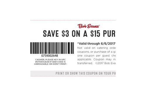 bob evans online coupons