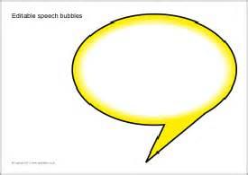 Editable Speech Template by Editable Speech Bubbles Sb5224 Sparklebox