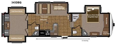 fifth wheel with 2 bathrooms montana fifth wheel floor plans with two bathrooms