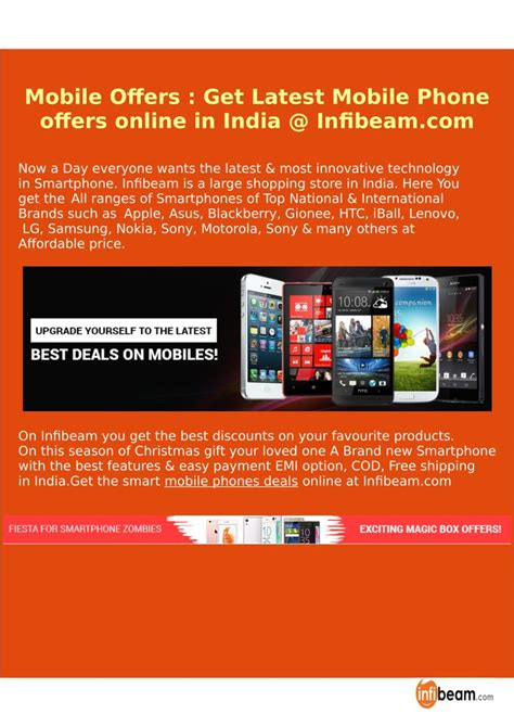 mobile offers in india ppt mobile offers get mobile phone offers