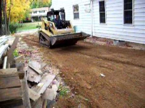 regrading a side yard youtube