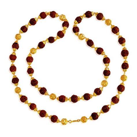 gold mala pattern 22k gold rudraksh mala asch62694 22k gold mala is