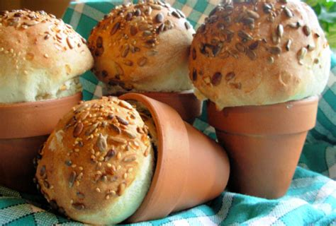 flower food recipe rustic flower pot bread loaves or bread rolls recipe