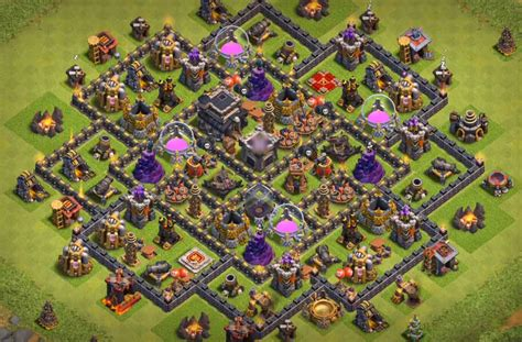 best th9 hybrid base 2016 15 epic town hall 9 war base anti 3 star 2017 bomb