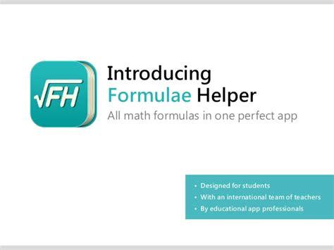 Login Mba Math by Formulae Helper All Math Formulas In One Ios7