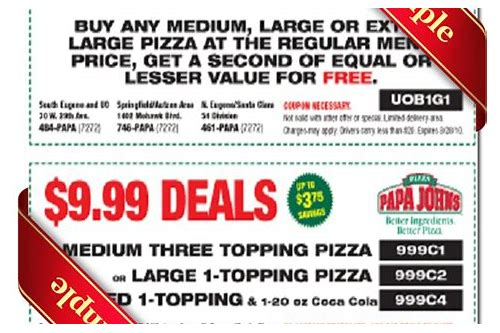 papa johns coupon code free breadsticks