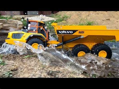 bruder volvo ah dumper truck outdoor action rc conversion youtube
