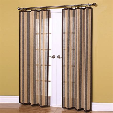 Bamboo Curtains For Windows Easy Glide Bamboo Ring Top Window Curtain Panels Bed Bath Beyond