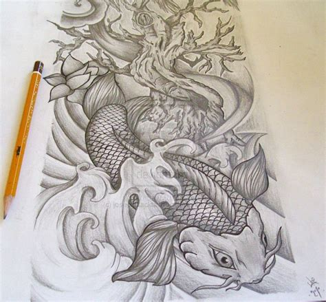 koi to dragon tattoo design s half sleeve ideas koi half sleeve