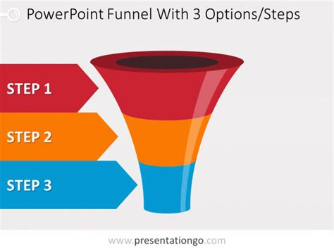 Colorful Powerpoint Funnel With 3 Options Funnel Graphic Powerpoint