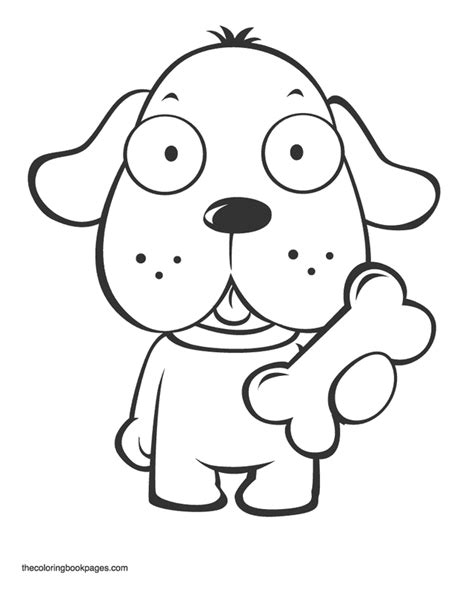 cute coloring pages of puppy coloring book pages animals dogs cute puppy holding bone