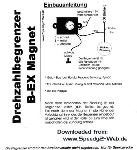 Motorrad Drehzahlbegrenzer by Peugeot Speedfight2 Entdrosseln Tuning Einbauanleitung
