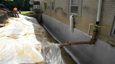 basement waterproofing french drain and wet basement
