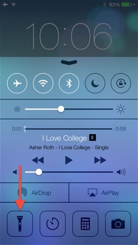 where is flashlight on iphone how to turn iphone into a flashlight in ios 7