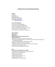 Apprentice Resume Electrician Resume Template 5 Free Word Excel Pdf